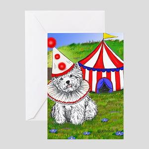 Circus Westie Greeting Card