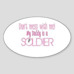 Don't mess with me - pink Oval Sticker