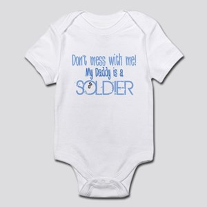 Don't mess with me - blue Infant Bodysuit