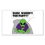 ALIENS and UFO's #2 Rectangle Sticker 50 pk)