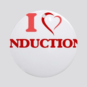 I Love Induction Round Ornament