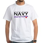 US Navy Son-In-Law White T-Shirt