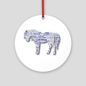 I LOVE HORSES Ornament (Round)