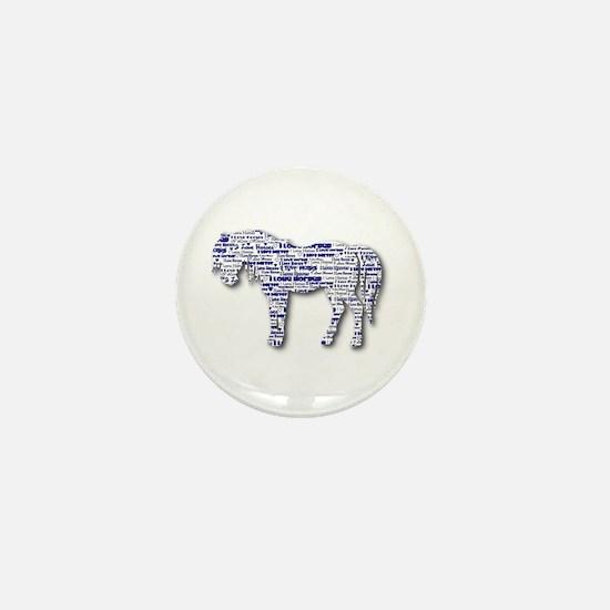 I LOVE HORSES Mini Button