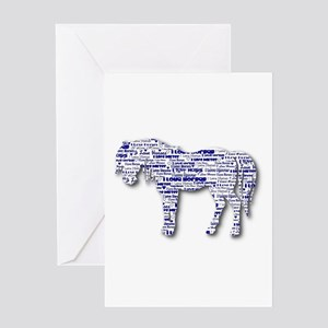 I LOVE HORSES Greeting Card