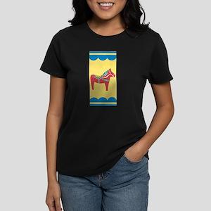 Dala Horse Women's Dark T-Shirt