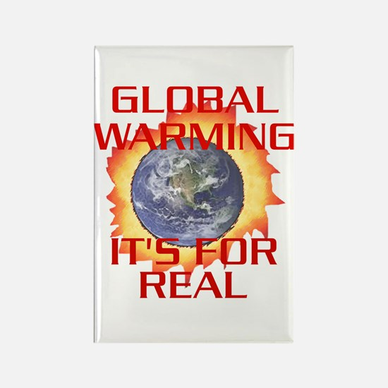 Global Warming Its for Real Rectangle Magnet