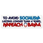 Avoid Socialism Bumper Sticker