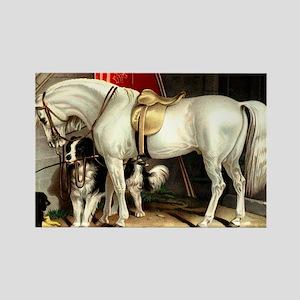 White Horse Rectangle Magnet (10 pack)