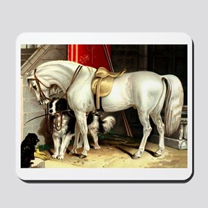 White Horse Mousepad