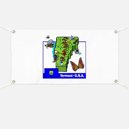 Vermont Map Banner
