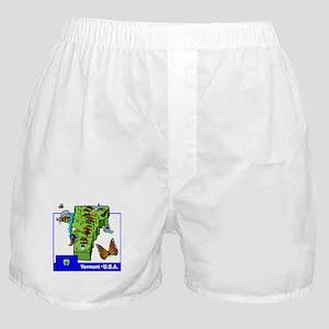 Vermont Map Boxer Shorts