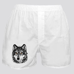 Painted Wolf Grayscale Boxer Shorts