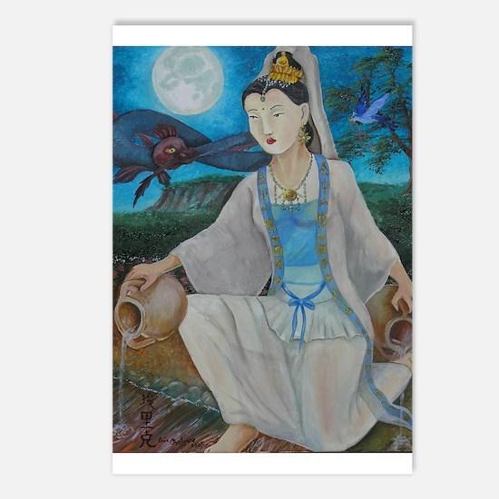 Cute Kuan yin Postcards (Package of 8)