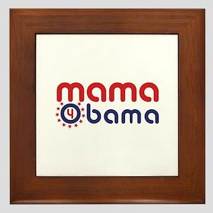 mama 4 obama Framed Tile