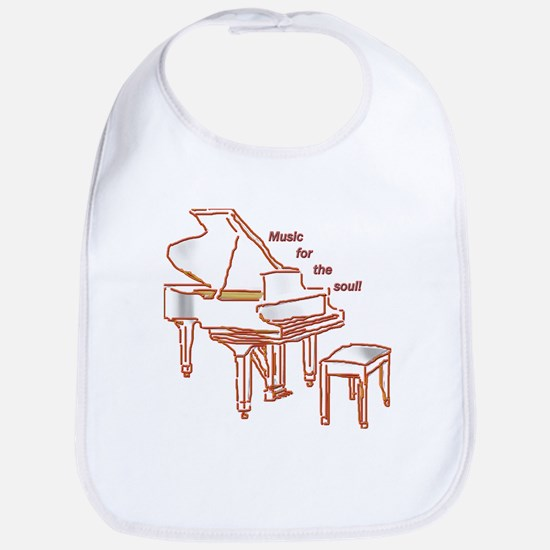 Music for the Soul (red piano) Bib