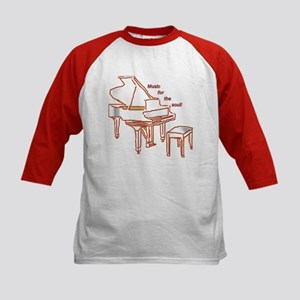 Music for the Soul (red piano) Kids Baseball Jerse