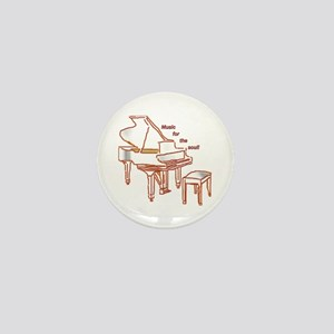 Music for the Soul (red piano) Mini Button
