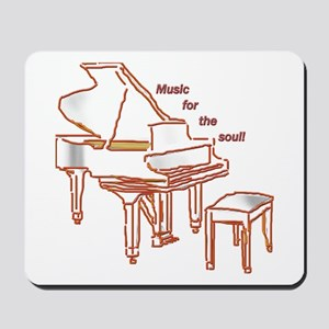 Music for the Soul (red piano) Mousepad