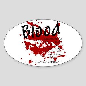 Dexter Oval Sticker