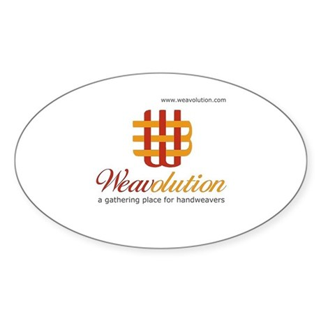 Weavolution Oval Sticker