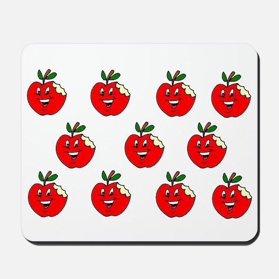 Cute Apple Pattern Mousepad