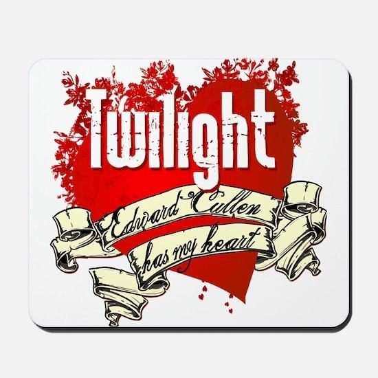Edward Cullen Has My Heart Mousepad