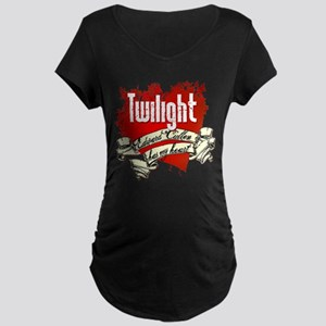 Edward Cullen Has My Heart Maternity Dark T-Shirt