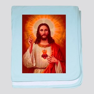 Sacred Heart Of Jesus baby blanket