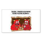 MONSTER eat CLOWNS Rectangle Sticker 10 pk)