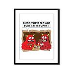 MONSTER eat CLOWNS Framed Panel Print