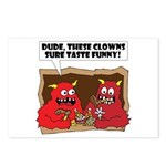 MONSTER eat CLOWNS Postcards (Package of 8)