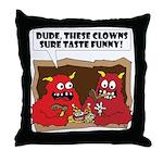 MONSTER eat CLOWNS Throw Pillow