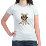 Happy Pug Jr. Ringer T-Shirt