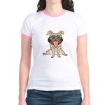 Happy Pug Jr. Ringer T-Shirt