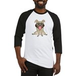 Happy Pug Baseball Jersey