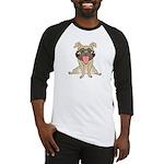Happy Pug Baseball Jersey