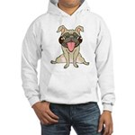 Happy Pug Hooded Sweatshirt