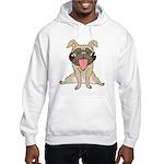 Happy Pug Hooded Sweatshirt