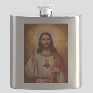 Sacred Heart Of Jesus Flask