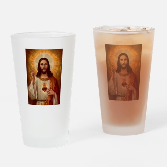 Sacred Heart Of Jesus Drinking Glass