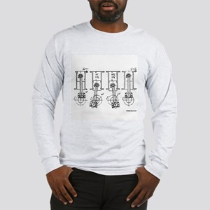 4 Pistons - On a Long Sleeve T-Shirt