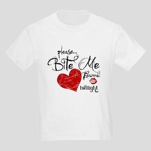 Please Bite Me Edward Kids Light T-Shirt