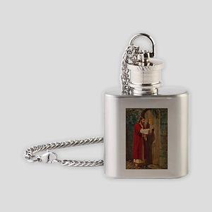 Jesus Knocks On The Door Flask Necklace