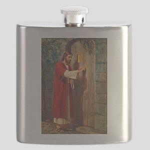 Jesus Knocks On The Door Flask