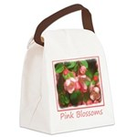 Pink Blossoms Canvas Lunch Bag