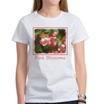 Pink Blossoms Women's Classic White T-Shirt