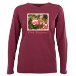 Pink Blossoms Plus Size Long Sleeve Tee