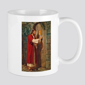 Jesus Knocks On The Door Mugs