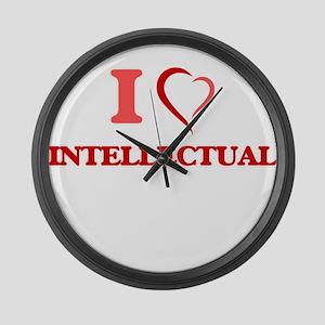 I Love Intellectual Large Wall Clock
